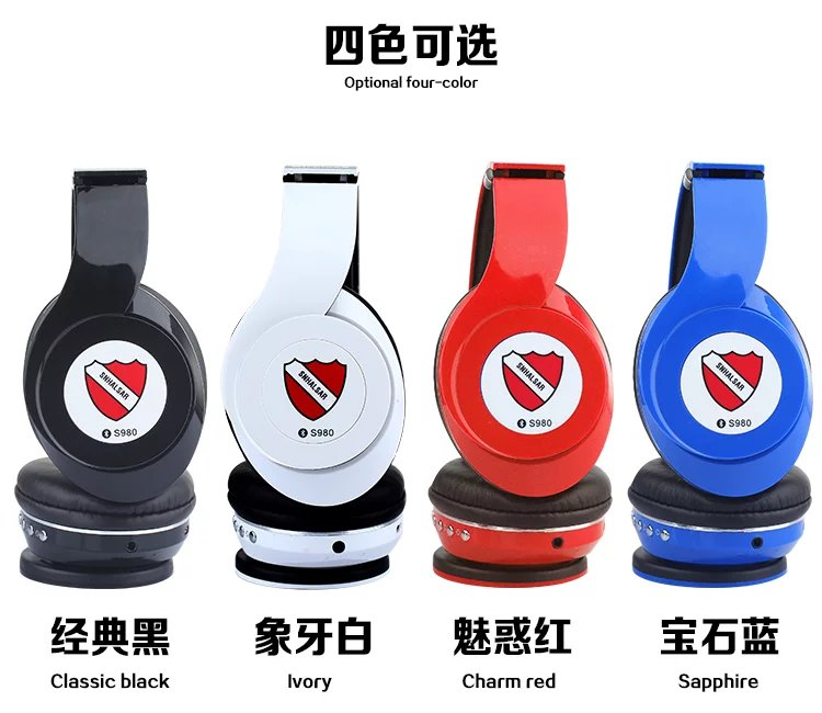 SNHALSAR S980 bluetooth headphone, bass headphones, shenzhen electronics co ltd