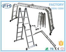 SGS & EN131 multi purpose ladder home depot, aluminum folding scaffold ladder, telescopic foldable ladder