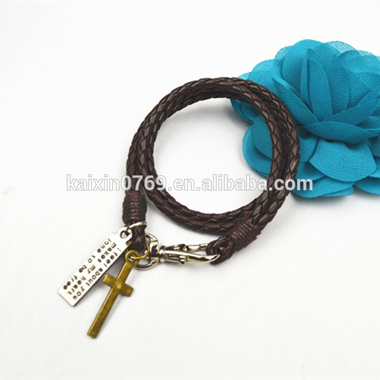 fashion mens leather bracelet popular product