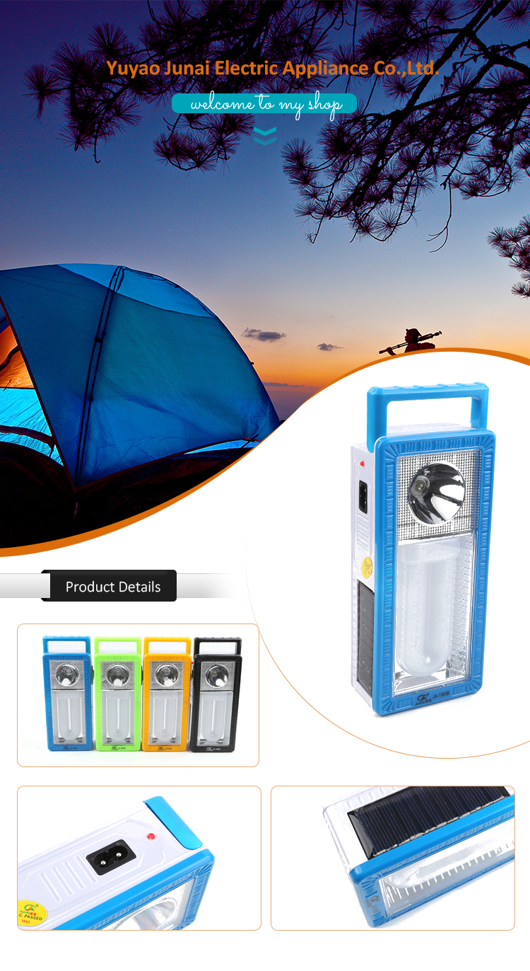 1 year warranty multi-functional solar led emergency light with PC tube