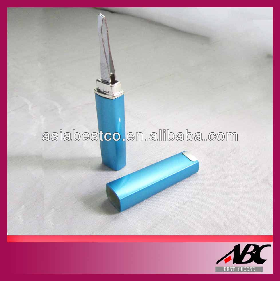 Plastic tube eyebrow tweezer