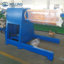 Metal coil hydraulic expanding mandrel uncoiler/10 Ton Hydraulic Uncoiler with/without coil car
