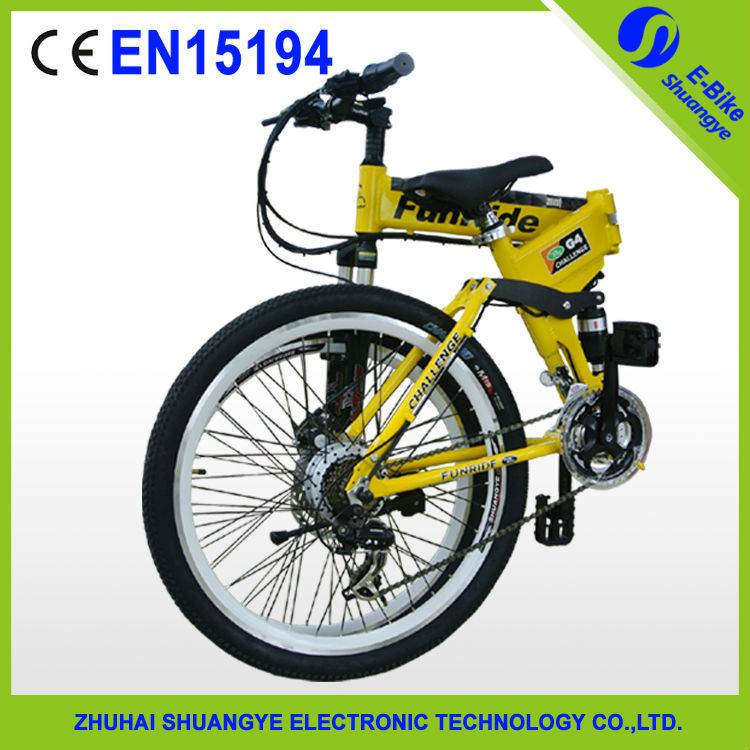 "2015 factory new 26"" 36V folding mountain electric chopper bike"