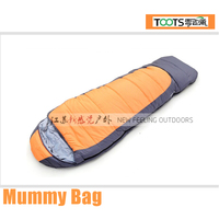 TOOTS Yellow Body Shaped Sleeping Bag with Hood