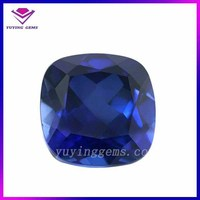 Wholesale Cushion Cut Top Quality Lab Created Corundum Neelam Stone