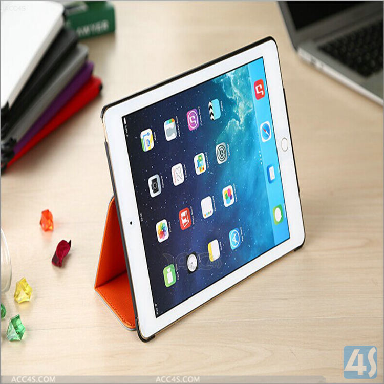 Durable PU Leather Stand Case For iPad Air 2 tablet PC
