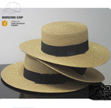 wholesale cheap custom floppy brim ladies fashion summer wide brim boater straw hat