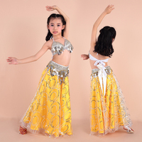High Quality Kids Belly Dance Costumes Belly Dance Costume Set for Children Top Belt Skirt Girls Dance Dress