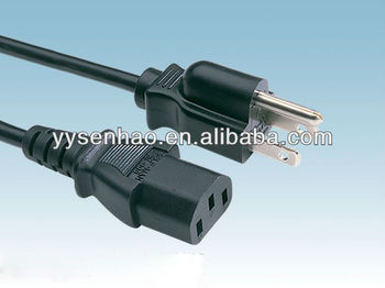American and canada 110V UL NEMA 5-15 power cord