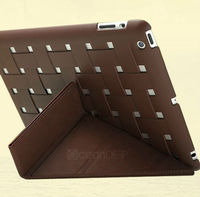 new product for 2013 texitile design flip leather case for Apple ipad 4 tablet