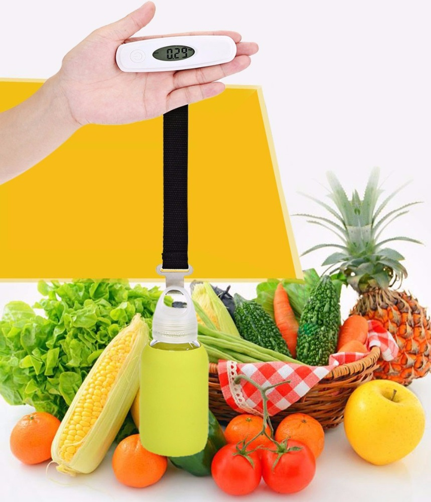 New Portable Mini Hanging Scale 110Ib / 50Kg LCD Digital Hanging Luggage Weighting Hook Scale Electronic <strong>Weight</strong> Scales