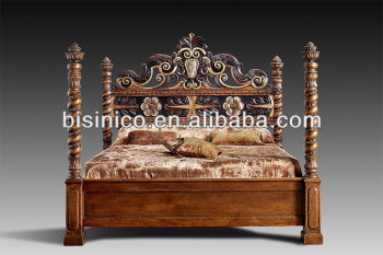 Luxury European Royal Furniture Bedroom Set,solid Wood Hand Carved Bed