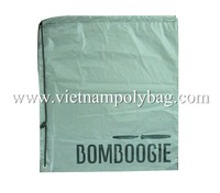 Cotton linen drawstring plastic bag