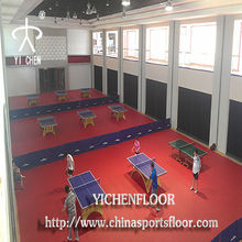 table tennis court construction material table tennis floor mat