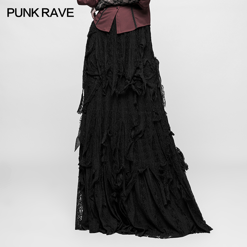 <strong>Q</strong>-326 Gothic vintage gorgeous sexy ladies dancing long maxi skirt