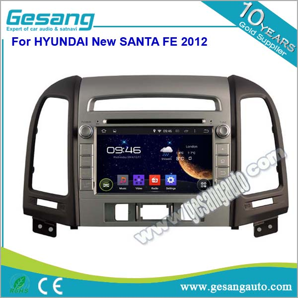 Android 5.1 capacitive touch screen car dvd player with 3g wifi gps for Hyundai Santa FE 2012