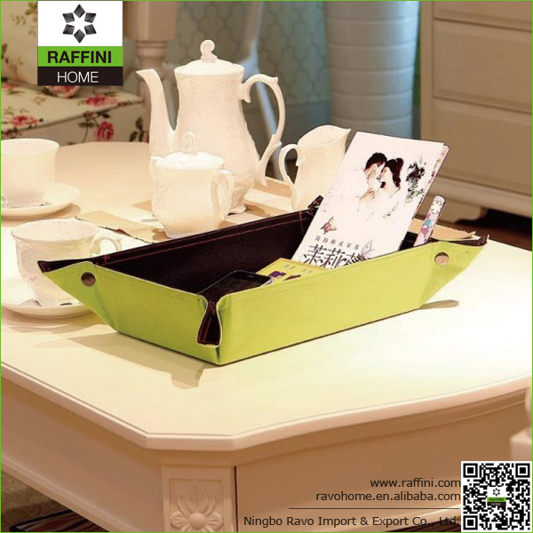 Custom Made Fashion Green Polyester 600D Portable Desk Organizer