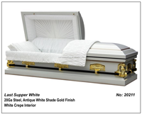 Last Supper White Casket Of Funeral