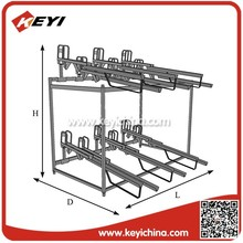 Elegant customized sloped double decker bicycle display racks