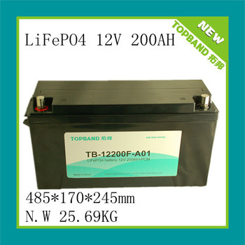 12V RV and caravan lifepo4 battery pack