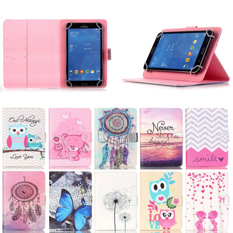 Cartoon pattern Leather tablet case for ipad mini 2, for ipad mini 1 2 3 4 case