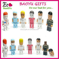 Cute Doctor USB Flash Drive 8g disk 16g custom plastic dental nurse workers logo