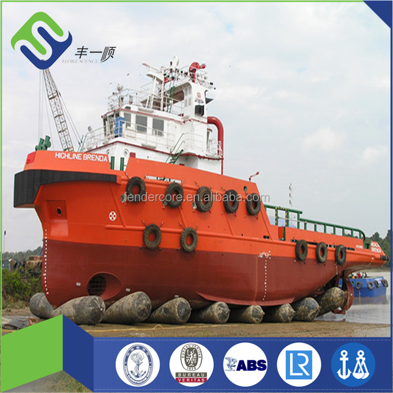 Ship launching/lifting/salvage Marine rubber airbags with synthetic tire cord