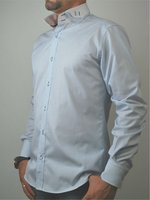 TUDOR - Double Collar Slim Fit Man Shirt