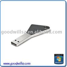 2011 hotsale metal key usb flash memory 2.0 with optional logo