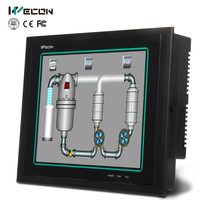 Wecon 10.4 inch modest price hmi with free scada software for most brand plc