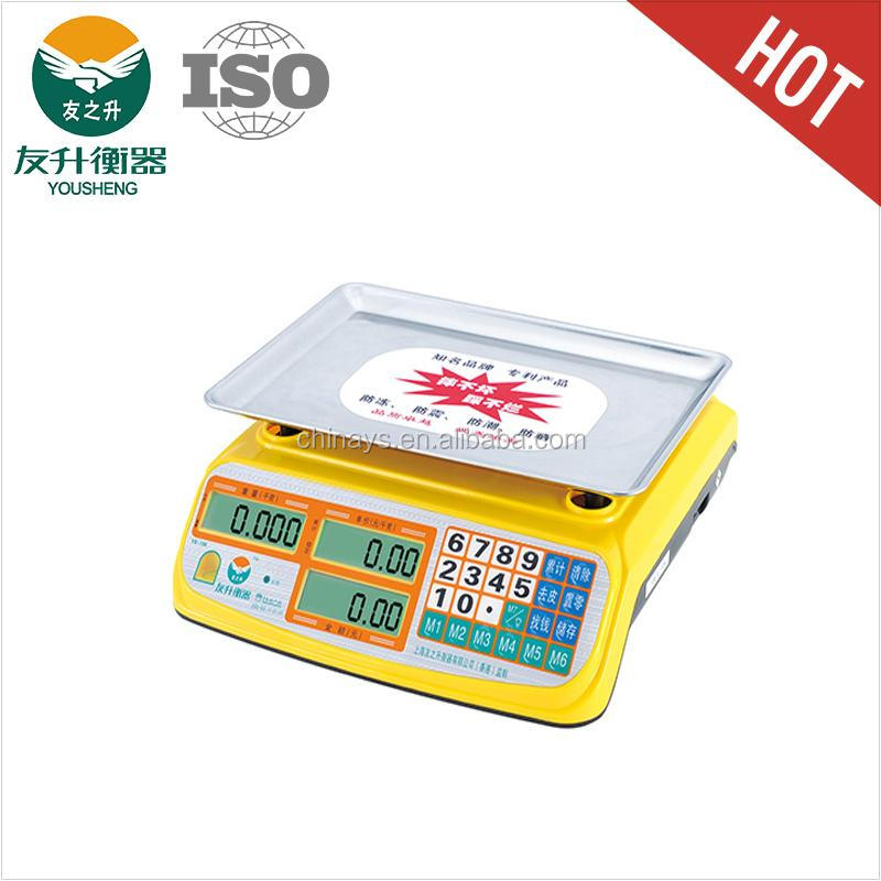 YS - 169 Price Scale,LED / LCD Display,Long Standby Time,Power Saving Main Board,450g Heavier Stainless Iron Plate