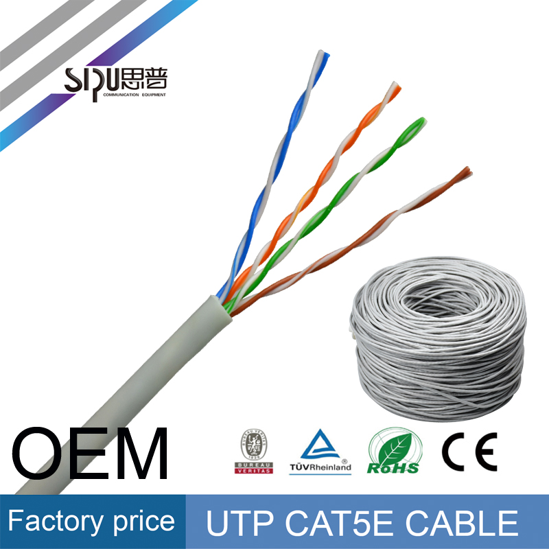 SIPU good quality 305m utp ftp cat5e network cable wholesale sftp cat6 lan cable best cat 5e cat 6 cable