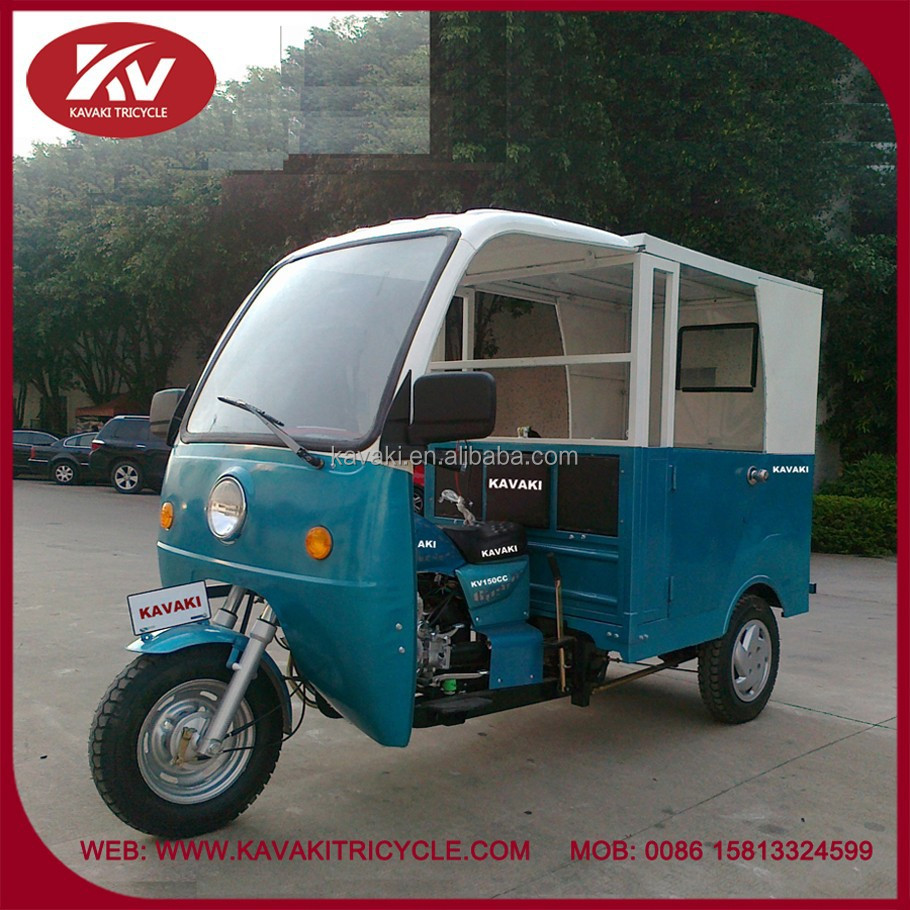 Hot sale in Africa new design fashion three wheel taxi with cabin