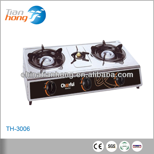 Hot selling 3 burners gas cooker, 3 burner table top gas cooker, royal gas cooker