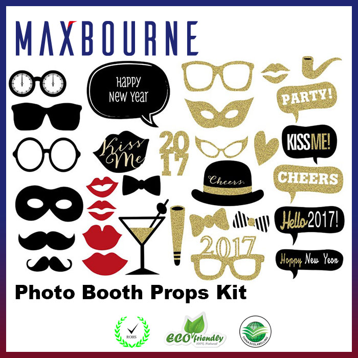Hot Selling Photo Booth Props 20 Piece DIY Kit For Wedding Party