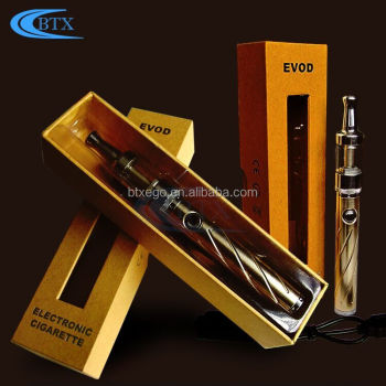 Made In China Hot Fashionable E Cig Evod battery 3ml atomizer 100% e cigarette