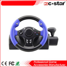 Factory usb game racing car gaming steering wheel for xbox360 steering wheel PC S2 PS3 PS4