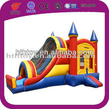 3 in 1 inflatable bounce house with water slide