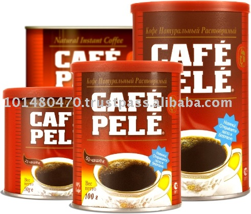 Cafe Pele Instant Coffee in Tins