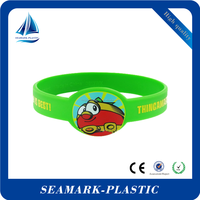 2016 giveaways promotional gifts unique custom shape silicone bracelets for children