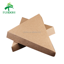 china triangle food grade bulk stocking wholesale brown kraft paper gable pizza cone box slice box with cheap price