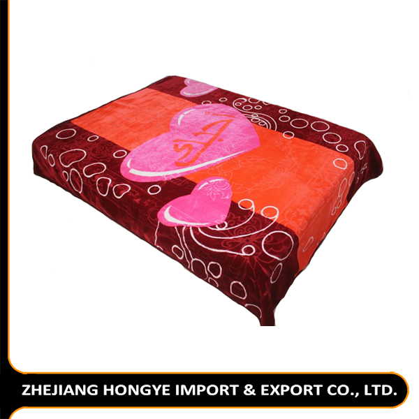 Cheap price korean best coral blanket 100% polyester raschel and weft blanket