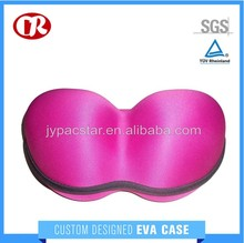 EVA zipper case with knitted fabric surface fashionable bra storage bag