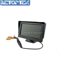 4.3'' Screen TFT LCD Car Rearview Mirror Monitor w/ Hidden Touch Button for Mini-& Sub-Compact Cars