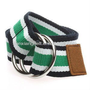 "Customized Double O-Ring Cotton Canvas Army military Web Golf Belt Wholesale 1-1/2"" Wide 4038"