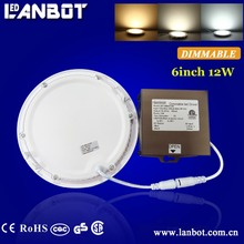 5 years warranty Plastic 15w 20w round led panel light surface mounted made in China