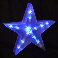 Battery Operated Indoor 3D PVC Star with Blue LED Lights Christmas Decor