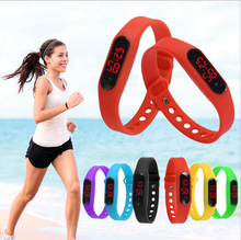 2016 Silicone Promotional Watches With Your Own Logo Digital Bracelet Silicone Led Watch