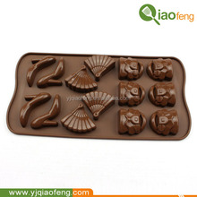 Superior quality skirt shape cake mould, fan shaped silicone chocolate mould, high-heeled shoes shaped baking mould