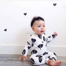 SEVWEN 2018 baby 0 3 years romper leaves pattern long sleeve baby jumpsuit
